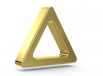 Metallic-Gold-Triangle